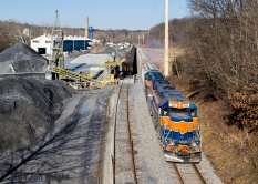 UBEG FINKSBURG: Passing by the Barrick Quarry terminal on its way to Emory Grove. 1/16/14