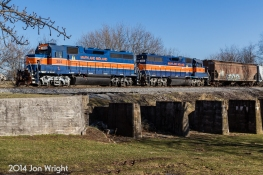 MIDDLEBURG, MD: AFTER CUTTING OF CARS IN UNION BRIDGE, UBEG GETS ORDERS TO HEAD WEST TO KEYMAR AND ONTO THE MDOT LINE AND SWITCH OUT CARS AT KFI 1/16/14