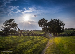 ANTIETAM BLOODY LANE SUNDOWN: The sun begins to set on another day recently at the Antietam battlefield near Sharpsburg, MD. Here at Bloody Lane, In the afternoon of September 17, 1862 nearly 5,500 soldiers were killed or wounded along this sunken road in about three hours of combat.