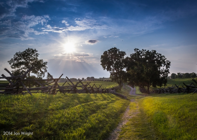 ANTIETAM BLOODY LANE SUNDOWN