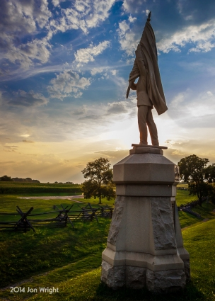 ANTIETAM BLOODY LANE 132ND PA: Mustered in Harrisburg, PA only the prior month, the 132nd PA suffered 132 casualties at Antietam attacking the Confederate position at the Sunken Road.