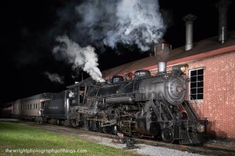 SRC 90 returns to East Strasburg on a recent Dinner Train.
