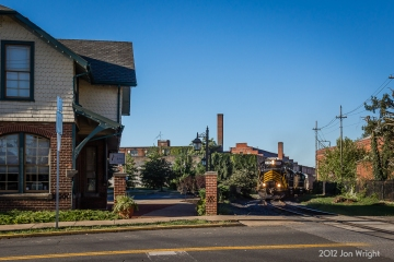 WW 86 passes this former Cumberland Valley Railroad passenger station depot in Martinsburg, WV. The station has seen 5 railroad's in it's lifetime and currently serves as offices for an architect firm.