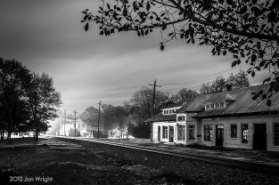 H46.2 GHOST TRAIN: Travel back in time as a Norfolk and Western train slowly arrives to make a station stop at Boyce, VA. Fast forward to October 2012 and witness what seems like a ghost train arriving just in time for Halloween.