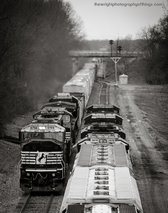 H2.9 Hagerstown, MD: At the south end of Vardo Yard as 2 trains meet each other at the northern terminus of the H Line