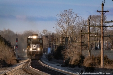 SHARPSBURG, MD: 16T just after sunrise in the former Norfolk and Western H Line.