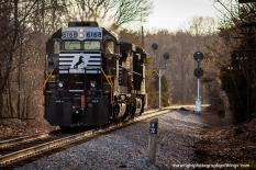 V86 returning to Shenandoah Yard