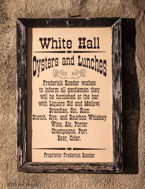 TAVERN MENU: Harpers Ferry - White Hall tavern served US arsenal employees right up until the Civil War. This is an example. Of what the menu would have been.