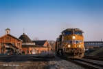 K055 rolls west through Martinsburg this evening with Union Pacific power leading the train