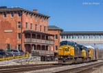 Q216 passes the former B&O Hotel and passenger station in Martinsburg, WV