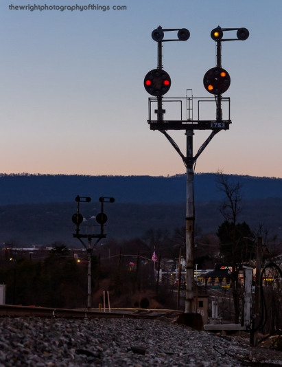 """""""WEST HUMP"""" Twilight is falling around the CPL signals inside the Cumberland Terminal known as West Hump. The signals are in their own twilight as their fellow brother and sisters at Mexico and across the CSX system."""