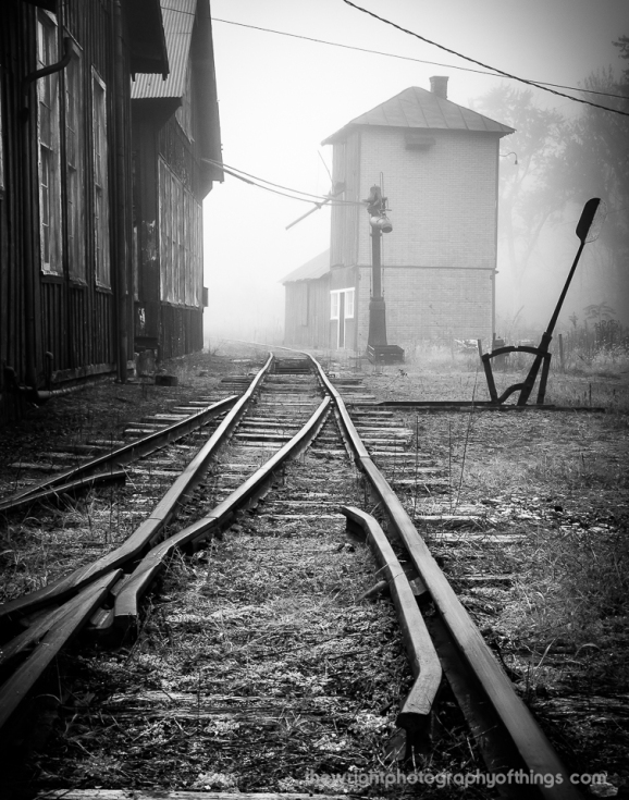 Fog has yet to give way in Huntingdon County's Aughwick Valley in the East Broad Top Railroad Shops in Rockhill, PA.