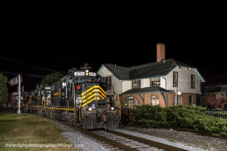 Rolling through downtown Martinsburg from Hagerstown, WW 86 passes the Cumberland Valley Railroad Station on King Street.