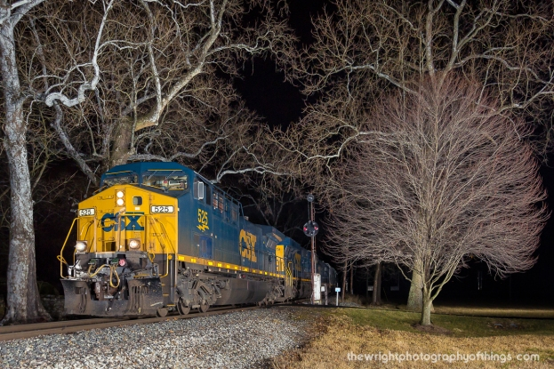 A Winchester bound grain train passes the last of the remaining B&O Color Position Light signals in the Eastern Panhandle of WV