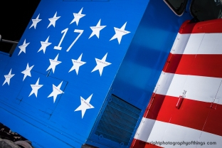 30 stars decorate the cab of Pennsylvania and Southern Railroad SW7 #17 with 15 on each side to honor those American servicemen that perished in the 2011 Extortion 17 Chinook helicopter crash in Afghanistan.