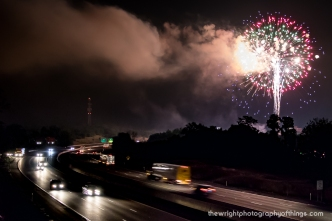 Travelers on Interstate 81 were treated to a show as the Martinsburg 's Annual Fireworks Display lights up the night sky on this July 4th.