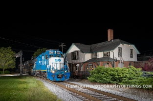 Passing the former Cumberland Valley Railroad Passenger Depot in Martinsburg, WV