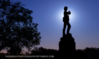 The Moon rises behind the monument of the 7th PA Reserve (36th) Volunteer Infantry. Under direction of the 2nd Brigade, 3rd Division in the First Corps under Joesph Hooker