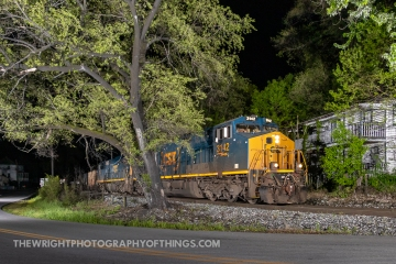 CSX train on the Shenandoah Sub between Harpers Ferry and Charlestown, WV