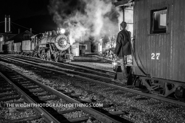 A night in the Rockhill Furnace yard of the East Broad Top Railroad... in 2020.
