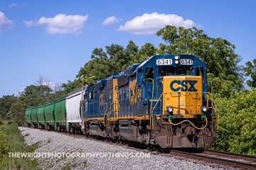 I did some minor railfanning south of Winchester, VA on Wednesday June 23, 2021. I was in town running a couple errands when I saw CSX D788 roll by the station on Kent and Piccadilly Streets. The evening rush hour was just beginning and I wasn't able to catch up to it until it had dropped off a few lumber cars at Stephen's City and watch it go by at the crossing. Traffic let up enough I was able to get ahead of it further south and here caught it just north of Middletown, VA. The location is where on October 19, 1864 that the surprise attack of 14,000 Confederate troops that had driven 32,000 Federal forces in the Battle of Cedar Creek halted. The Union Army later regrouped a couple miles to the north to mount a counteroffensive that would clear the field and the Shenandoah Valley of any considerable rebel force for the rest of the Civil War.